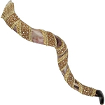 Eva Arbiv Mishan Decorated Goldish Yemenite Shofar