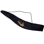 Embroidered Blue & Gold Velvet Yemenite Shofar Bag
